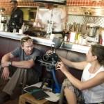The DOP Mariana Sanchez de Antunano and me on set.