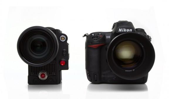 Fixed lens Scarlet & Nikon D3 Side by Side