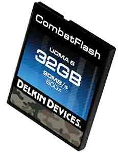 Delkin Devices' Combat Flash CF Card.