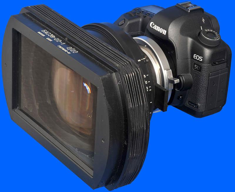 Canon 5D MK II PL Mount Anamorphic Lens.