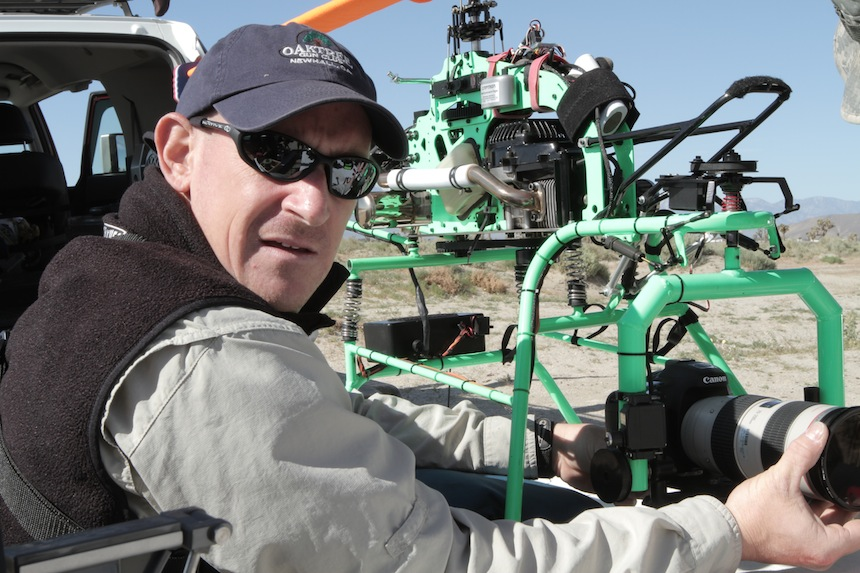 Ross Addiego With His HDSLR Helicopter Rig.