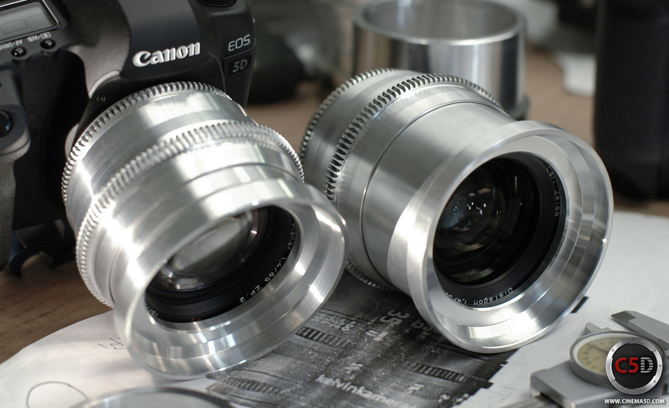babyPrimes re-housed Zeiss lens