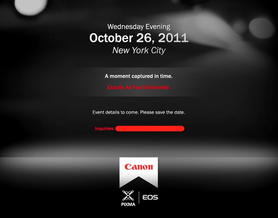 Canon EOS PIXMA Event Canon is teasing us   Oct. 26th event to reveal something EOS