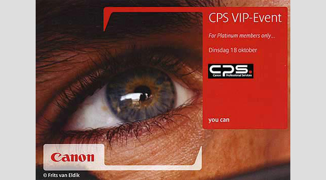 Canon CPS VIP Event1 Another CANON event   Oct 18th in the Netherlands!