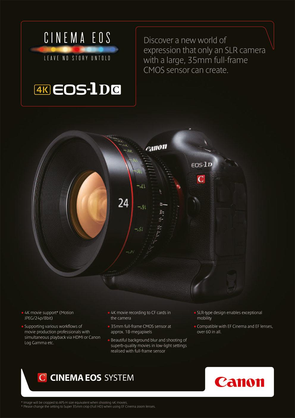 The Canon Eos 1d C 4k Dream Hdslr Cinema5d
