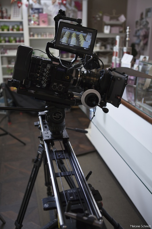 Sony F55 on the Kessler CineSlider