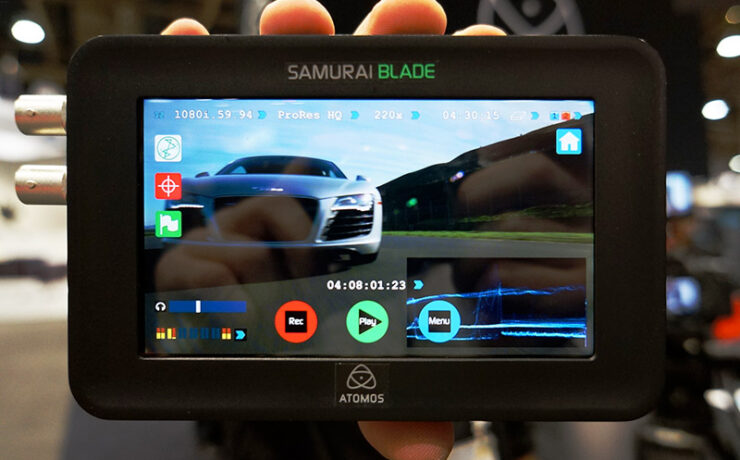 Atomos Samurai Blade - new affordble disk recorder with 720p IPS panel