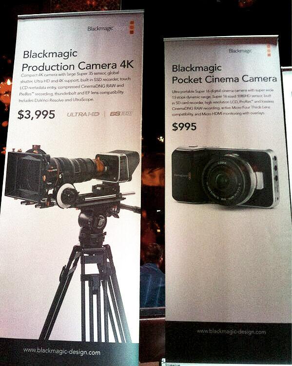 Blackmagic 4K camera - super35 global shutter sensor for $4K