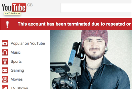 YouTube deletes filmmaker account without explanation [UPDATE: it's back!]