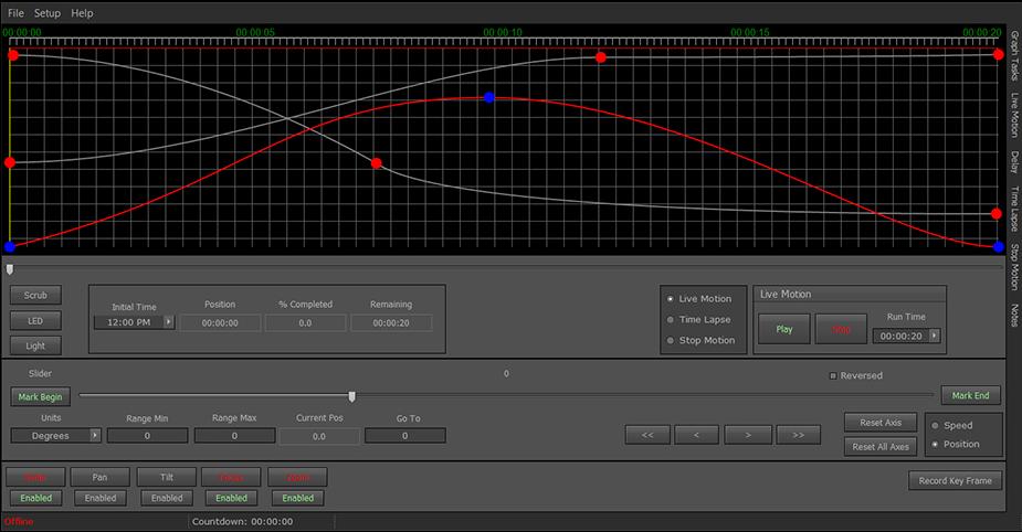 CineDrive interface