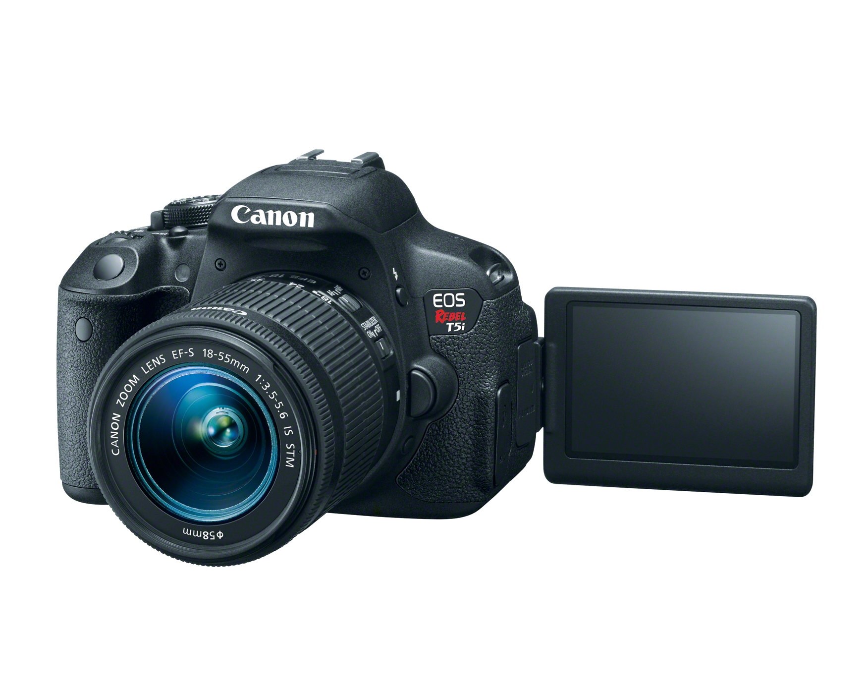 HR T5i EFS18 55 IS STM LCD OPEN Canon EOS T5i (700D)   Video Review
