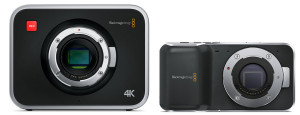 blackmagic 4k and pocket cinema cameras