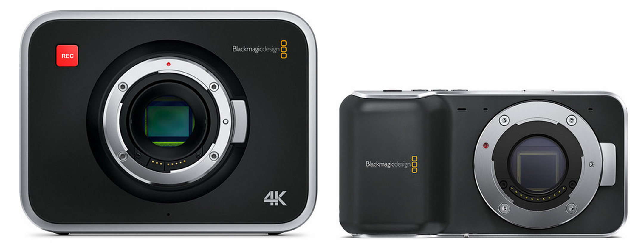 blackmagic 4k and pocket cinema cameras