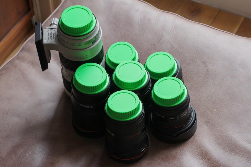 green lens caps