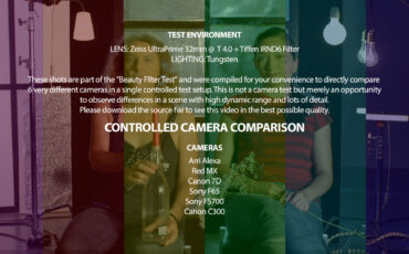 Camera Comparison: Arri Alexa - Red Mx - Canon 7D - Sony F65 - Sony FS700 - Canon C300