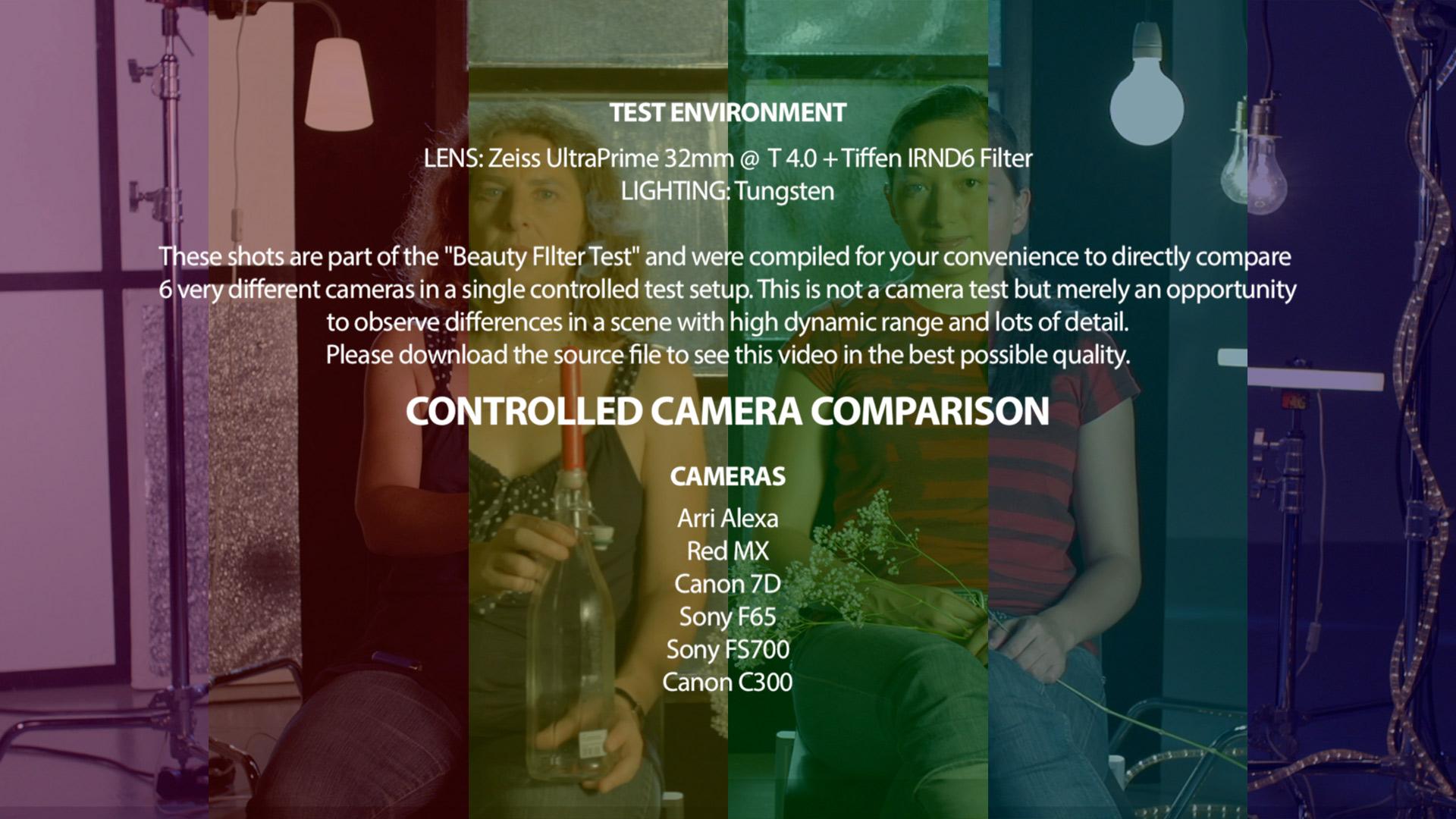 Camera Comparison: Arri Alexa - Red Mx - Canon 7D - Sony F65