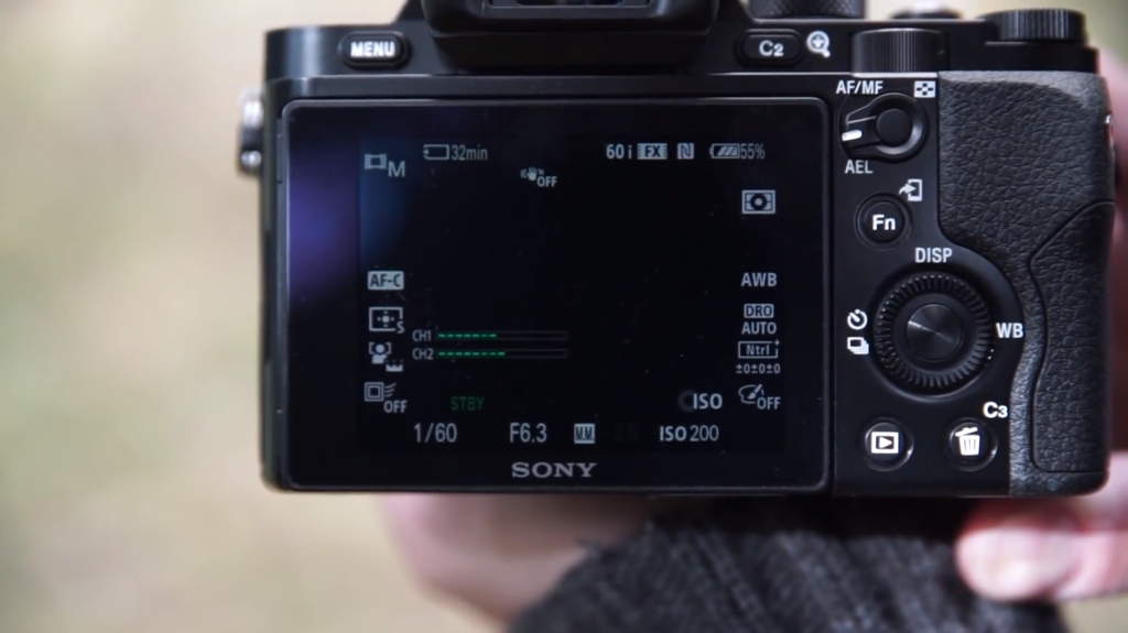 Sony A7R screen