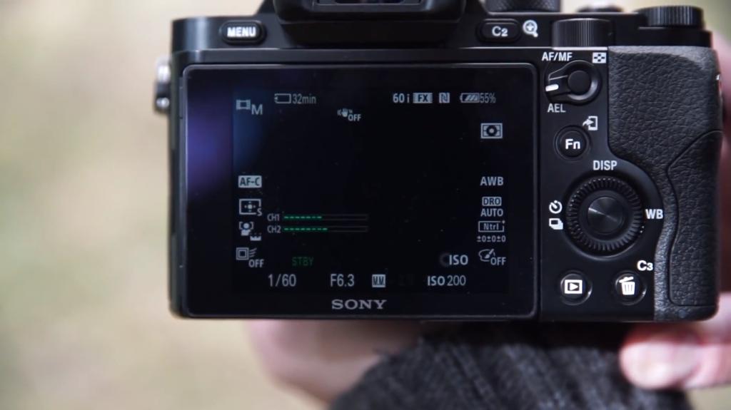 Sony A7R screen
