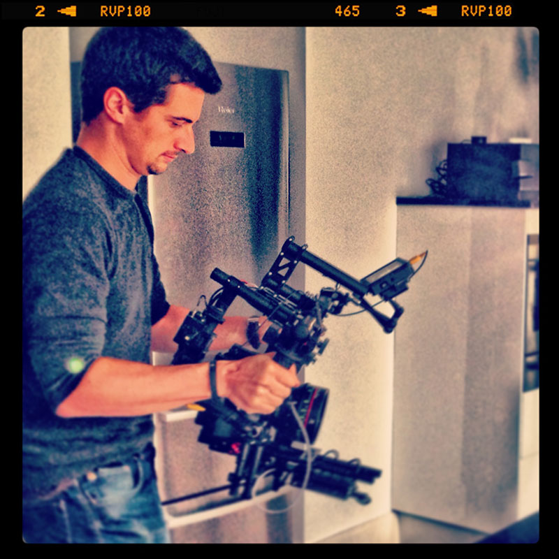 MōVI M10 operated by Nino Leitner in Vienna at Screenagers agency for their Christmas special.