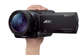 Tiny: the Sony FDR-AX100 4K camcorder with XAVC S recording