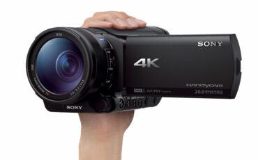 Sony announces FDR-AX100, world's smallest & lightest 4K camcorder