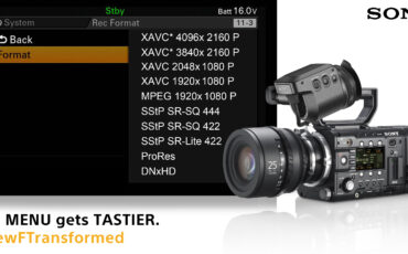 Sony announces ProRes and DNxHD support for F5 & F55