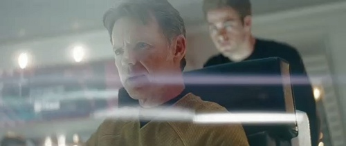 """Still frame from """"Star Trek"""" involving a lot of anamorphic flare (created in camera), courtesy of Paramount Pictures"""