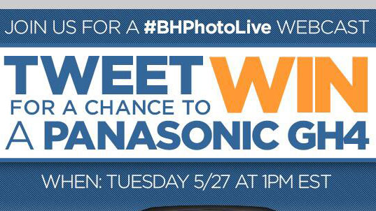 Win cameras at the B&H GH4 live webcast event!