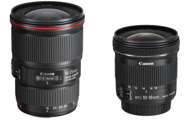 canon wide angles