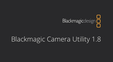 Firmware update 1.8 for Blackmagic Cameras