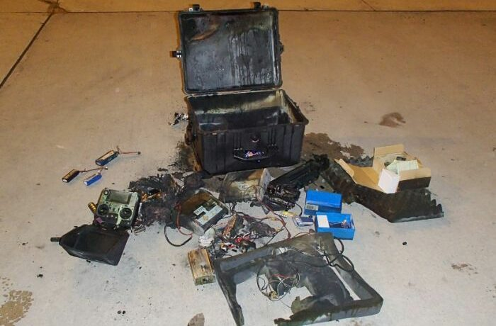 Drone batteries causing plane fire in Australia - always declare them!