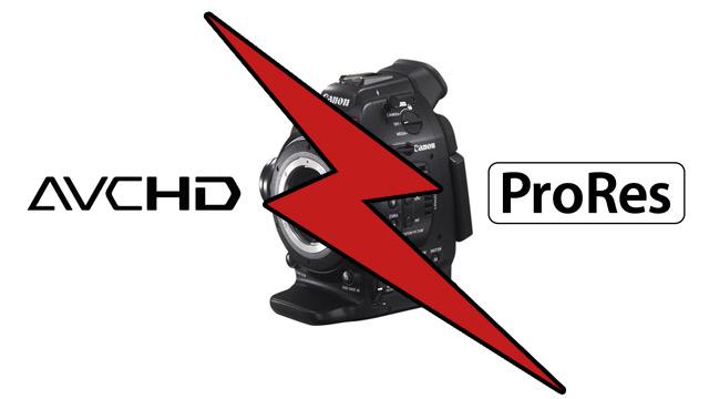Which is better? Canon C100 internal AVCHD vs ProRes compared