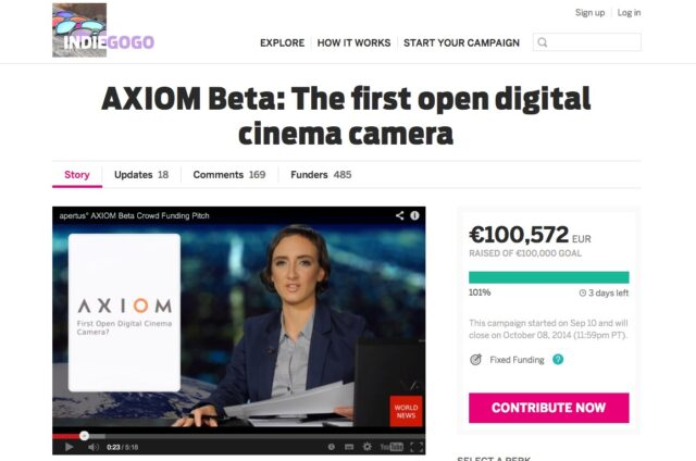 axiom crowd funding achieved