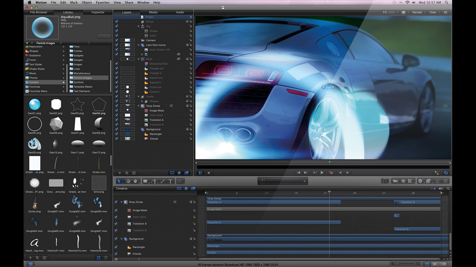 Apple releases update for final cut pro nab 2015 cinema5d for Apple motion templates for sale