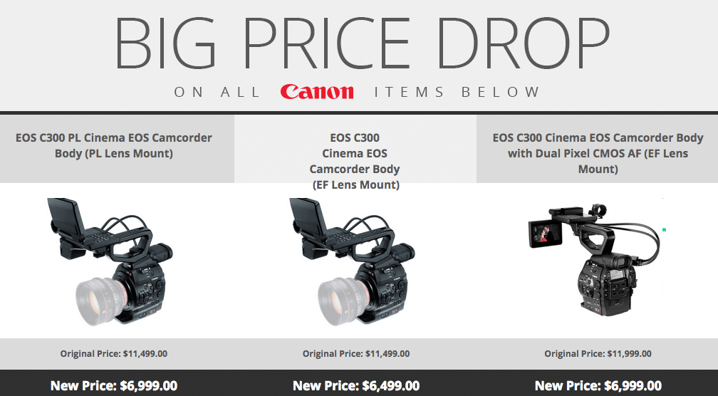 Canon C300 Price Drops 40% - Bad News for Owners
