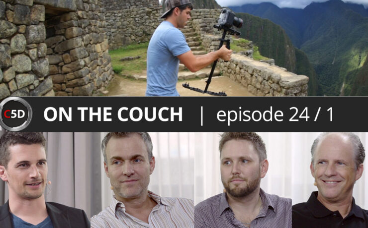 Glidecam vs gimbal, RED & the Revolution - ON THE COUCH Ep. 24 part 1 of 2 - Frank Mirbach, Lawrence Richards & Glidecam CEO David Stevens