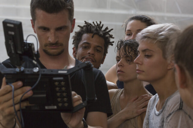 Reviewing the MoVi shots after our 40 degrees Celsius dance ...