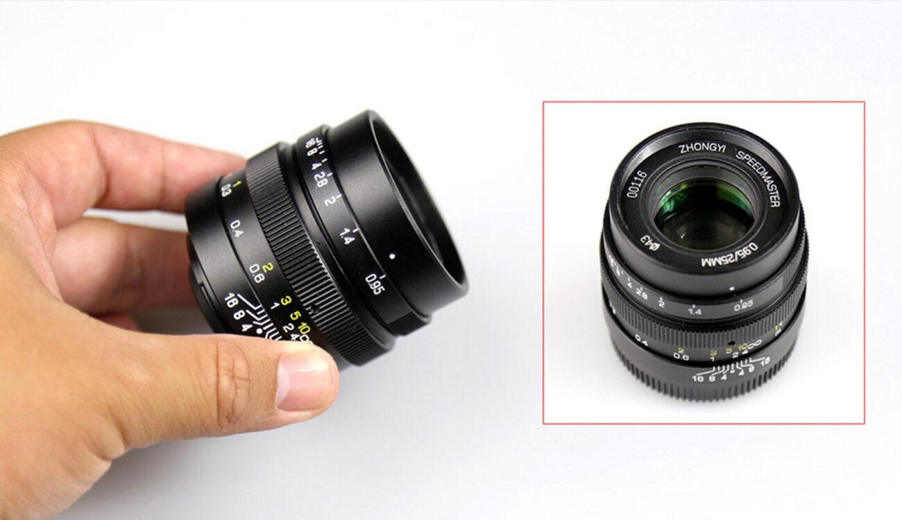 ZY Optics Announces World's Lightest f/0.95 Micro Four Thirds Lens