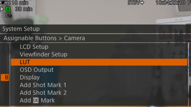 OSD and LUT good to have in Assignable Buttons menu