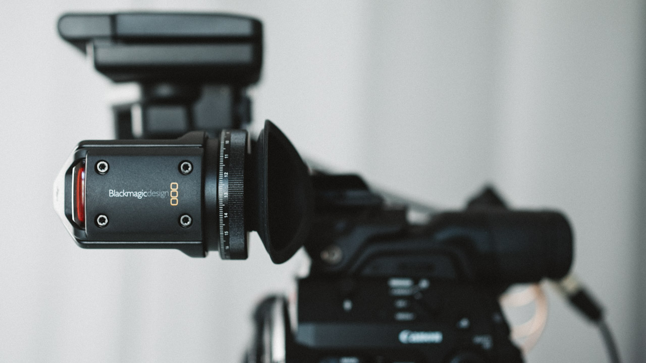 The Blackmagic URSA Viewfinder Works on a Canon C300 Mark II