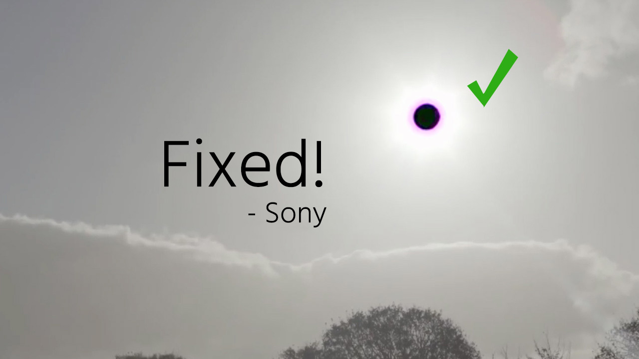 "Sony Issues a7S II Firmware Update, Fixing ""Black Hole Sun"" Problem"