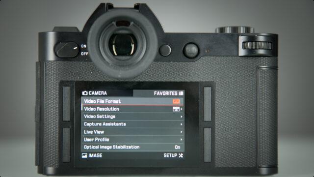 Leica SL-Favorites menu
