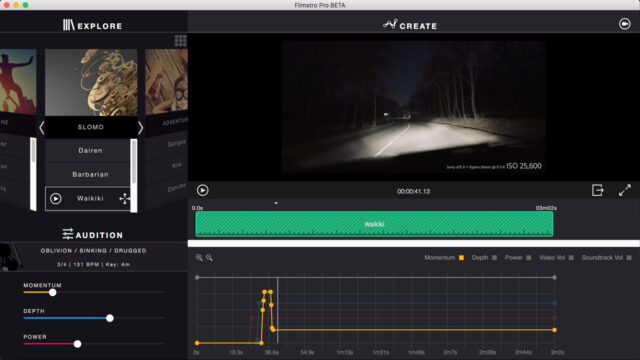 Filmstro Pro music composition software and plug-in.