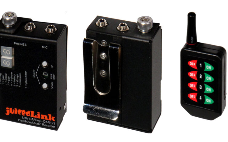 JuicedLink Little DARling - Compact Audio Recorder With Slate Tone Sync