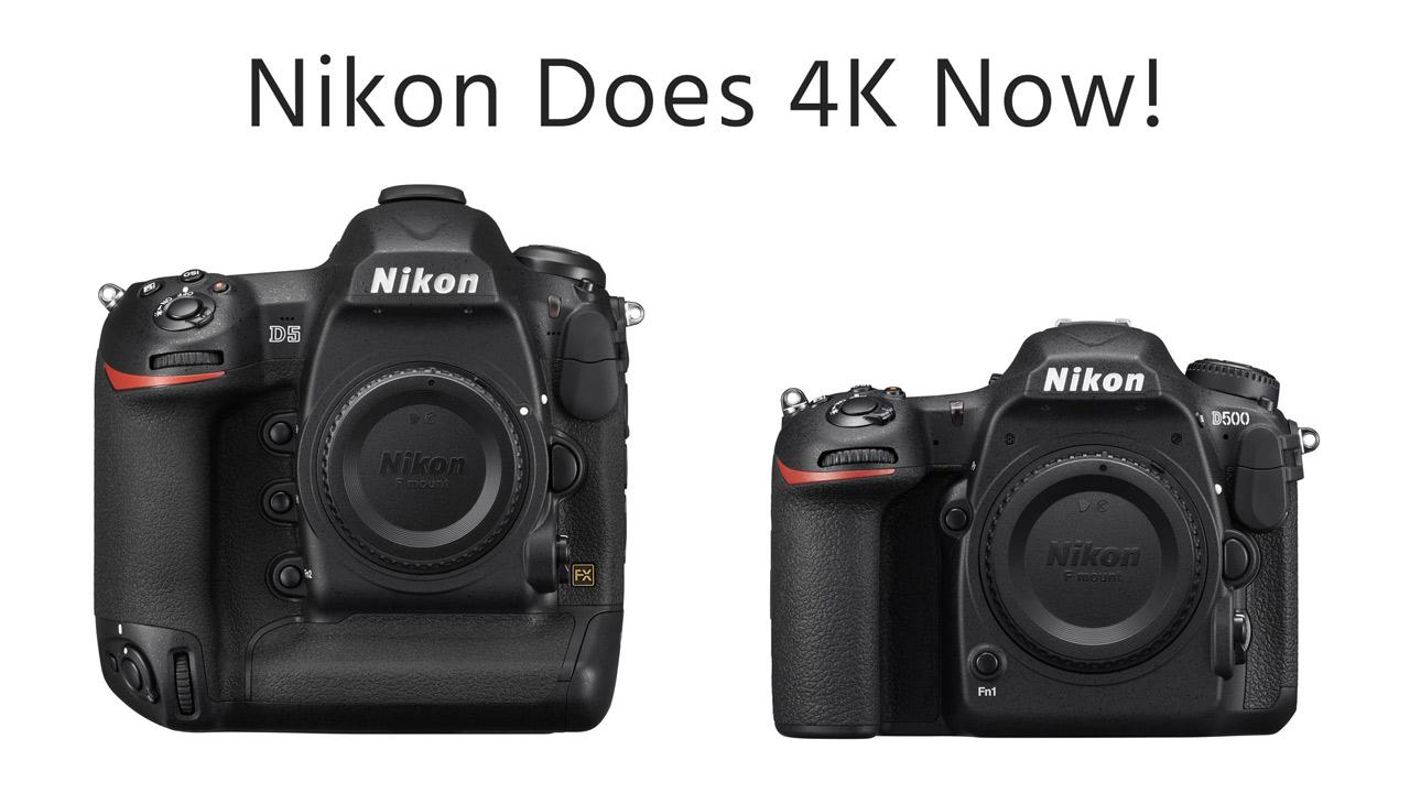 ニコンから4K DSLRが2機種登場 – D500 & D5