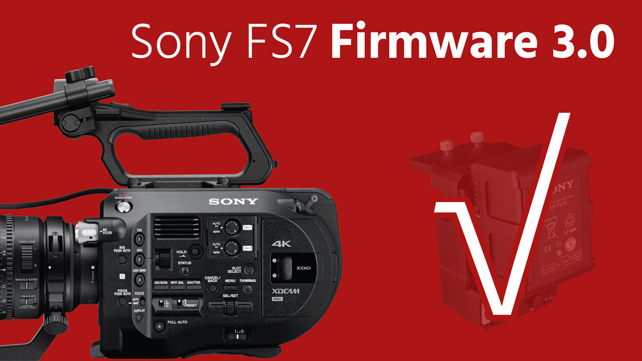 Sony releases pxw-fs7 firmware v2. 0 wts broadcast.