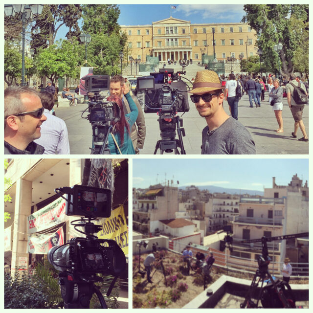 Shooting a special episode in Athens, Greece, following their near-collapse of their economy in summer 2015.