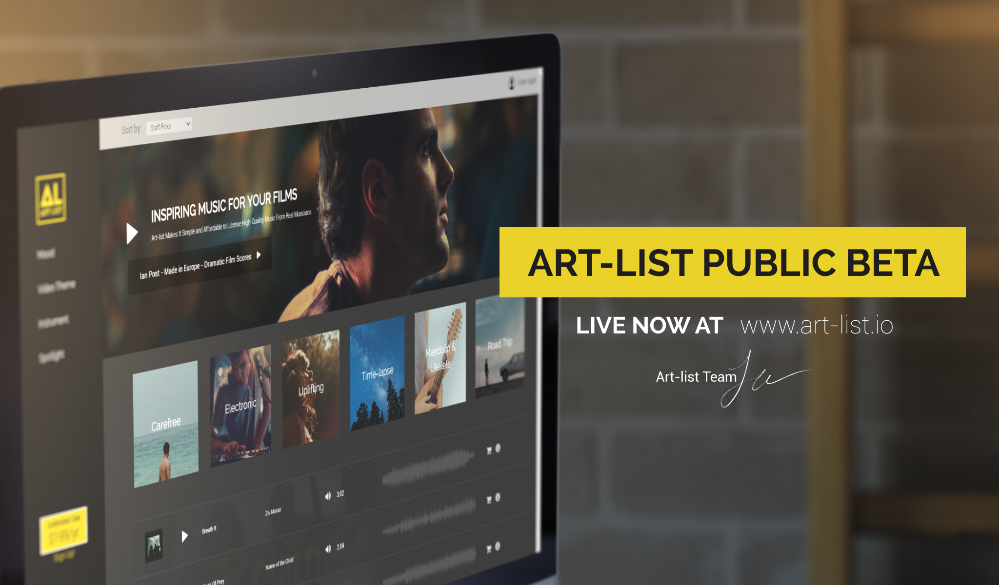 Art-list — The Affordable Licensing Subscription Service — Public