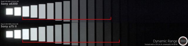 a6300 vs. Sony a7S II dynamic range