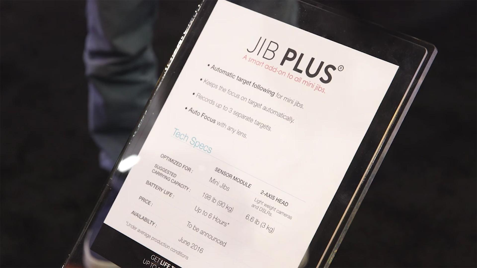 NAB Edelkrone Jib Plus _ specs